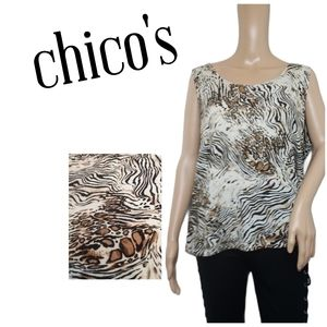 Chicos Additions Cheetah Tank Top